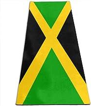Draagbaar Yogamat Antislip,Fitness-Oefenmat,Jamaicaanse Vlag (2) Eco-Vriendelijke Gymnastiekmat,Vloeroefeningen En Pilatu...