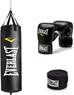 Everlast 70Lb Heavy Bag Kit Black/White, 70lbs
