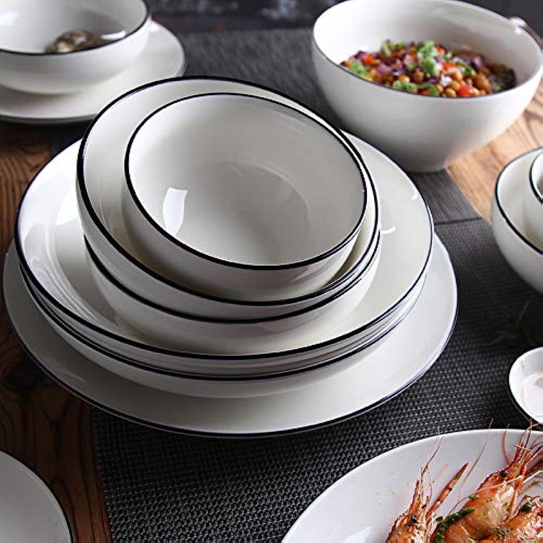 Vaisselle bol plat assiette en céramique micro-ondes bol bol à soupe bol à soupe simple nouveau plat de bardane en porcelaine