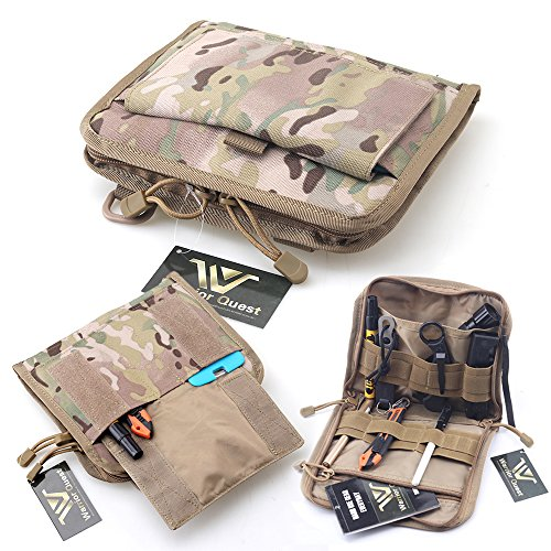 Warrior Quest Low Profile Organizer Pouch – Molle System Utility Pouches Tactical Medical Pouch Tools Accessories Pouch (CP Multicam Camo)
