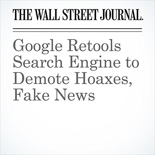 Google Retools Search Engine to Demote Hoaxes, Fake News copertina