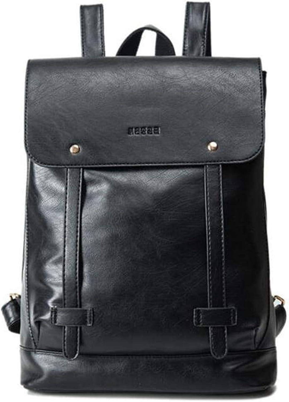 Rialbag PU Frauen Leder Rucksack Schulranzen für Laptop Tasche Rucksack