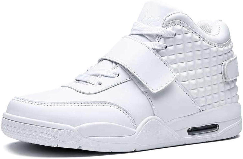 ZHRUI Herren Turnschuhe Rutschfeste Stiefel Studenten Freizeit Lace-Up Lace-Up Lace-Up Sport Basketball Schuhe (Farbe   Weiß, Größe   6.540 EU)  79d802