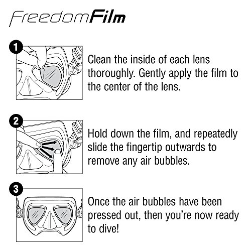 51Wg6a4fn5L - TUSA Anti-Fog Freedom Film for all Scuba/Snorkeling 2-Window Masks