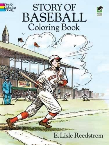 Story of Baseball Coloring Book Boston Red Sox Center