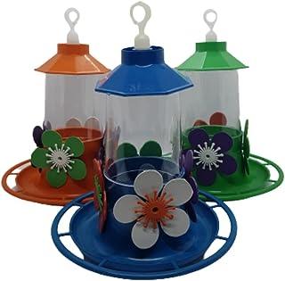 Alimentador de beija flor kit com 3 bebedouros com poleiro