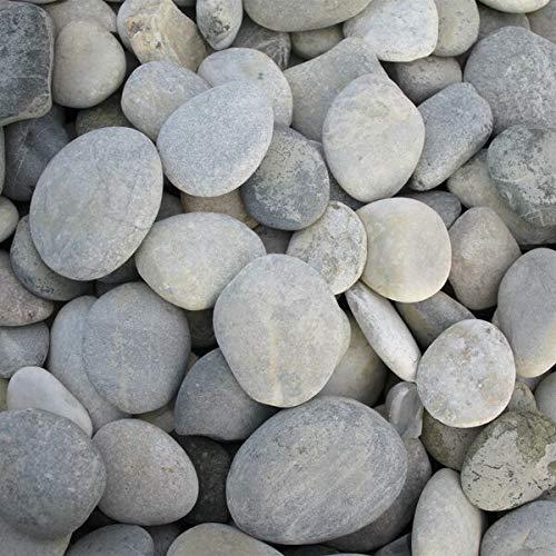 Splittprofi Zierkies Flusskiesel Malsteine rund 30-50 mm   im praktischen 3Kg Beutel   handsortiert und sauber  zum Bemalen und Basteln mindestens 20 STK
