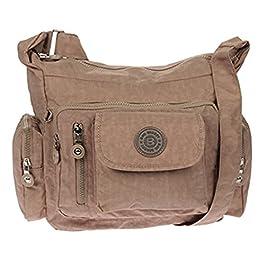 Bag Street Sac à main bandoulière Bodybag Nylon Beige gris/marron