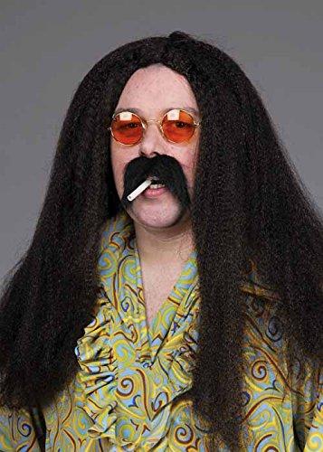 Parrucca Hippy di Mens Black 70\