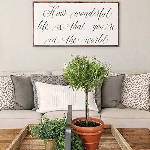 Decoración de Pared Grande con Texto en inglés How Wonderful Life is Now You'Re in The World, diseño con Texto en inglés How Wonderful Life is Now You'Re in The World