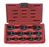 """NEIKO 03323A 3/8"""" and 1/2' Drive Crowfoot Flare Nut Wrench Set 