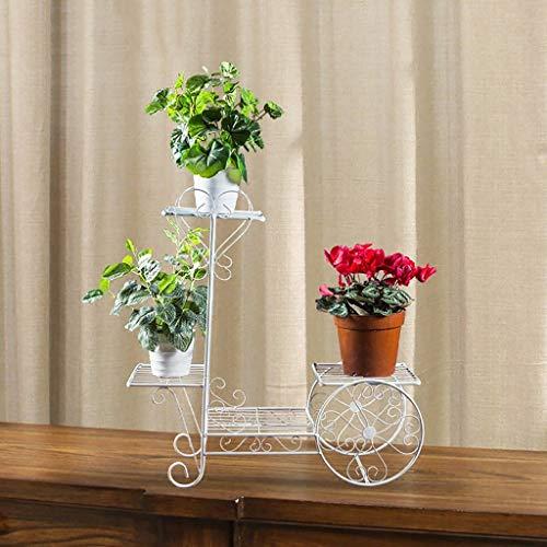 GWFVA Afwerkingspot voor bloempotten. IJzeren bloem vloer balkon vloer binnen en buiten bloempot vloer grootte: 52 * 17 * 38cm bloempot rek