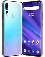 UMIDIGI A5 Pro SIMフリースマートフォン Android 9.0 6.3インチ FHD+水滴型ノッチ付きディスプレイ 16MP+8MP+5MPトリプルカメラ 4150mAh 4GB RAM + 32GB ROM Helio P23オクタコア DSDV対応 グローバルバージョン 顔認証 指紋認証 技適認証済み au不可 (ブルー)