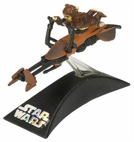 Hasbro Titanium Series Star Wars 3 Inch Vehicles Stolen Imperial Speeder Bike with Paploo