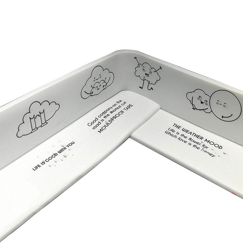 38MM Tub and Wall Caulk Strip Bathtub Caulk Strip PVC Waterproof Mould Proof Self Adhesive Tub, Kitchen Caulk Tape and Bathroom Wall Sealing Tape Caulk Sealer (Cartoon)