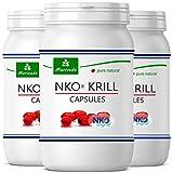 NKO olio di krill capsules (vincitore del test) 30, 90 o 270 pezzi in farmacia da MoriVeda - Omega 3,6,9 astaxantina, vitamina E, colina, fosfolipidi, olio di krill (270 capsule di softgel)