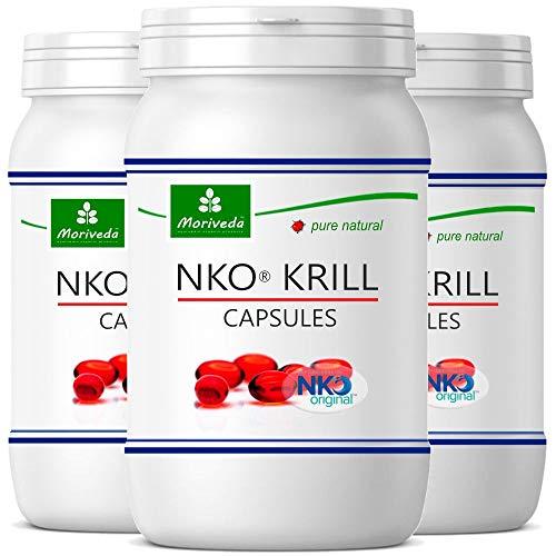 MoriVeda® NKO Krillöl Kapseln 3x 90St. mit hochwertigem Omega 3 Öl, Astaxanthin, Antioxidantien & Vitamin E I Zertifiziert durch USDA, ISO & MSC I 270St.