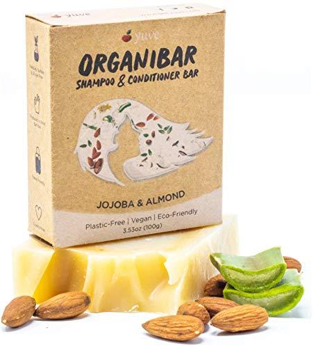 Yuve Natural Solid Shampoo & Conditioner Soap Bar - Zero Waste & Ethically Sourced - Nourishes Oily, Thick & Normal Hair - Eco-Friendly, Cruelty-Free, Sulfate-Free, Vegan, Non-GMO, Organic - 3.53oz