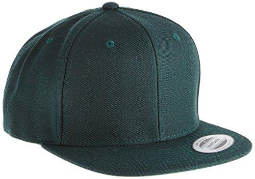 Flexfit Classic Snapback Cap, Mütze Unisex Kappe für Damen und Herren, One Size, Farbe spruce