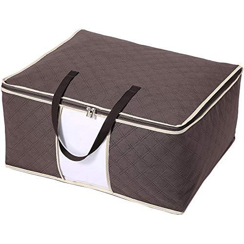 Generic Sac de Rangement sous Le lit Sac de Rangement pour vêtements Sacs saisonniers Pliables -55 * 20 * 35cm_Coffee