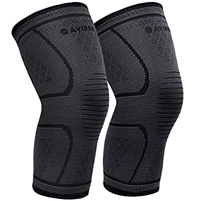 AVIDDA Knee Support Brace 2 Pack - Compression Knee Sleeves for Arthritis, Joint Pain, Ligament Injury, Meniscus Tear, ACL, MCL, Tendonitis, Running, Squats, Sports