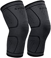 AVIDDA Knee Support Brace 2 Pack - Compression Knee Sleeves for Arthritis, Joint Pain, Ligament Injury, Meniscus Tear,...