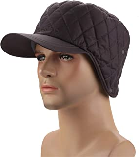 Hat Fashion Mens Classic Winter Bomber Windproof Mask Snow Ski Outdoor Sport Hat Hunting Unisex Warm Winter Trapper Hat Fashion Accessories (Color : Dark Gray)