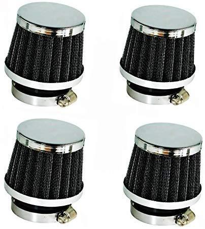 SET: Tuning Sport Power Luftfilter 4 x 52 mm für Motorrad und Leichtkraftrad Vergaser z.B. MZ