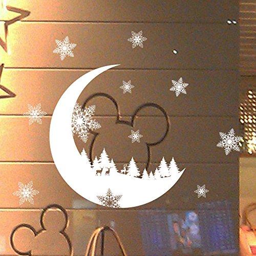 Sayla Weihnachten Dekoration Weihnachten Fenstersticker, Fensteraufkleber PVC Fensterbilder Weihnachten Fensterdeko selbstklebend Fensterfolie Weihnachtsdekoration