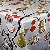KEVKUS C144340 - Mantel de Hule, diseño de búhos, Borde: Recorte (Borde de Ganchillo), 140 x 340...