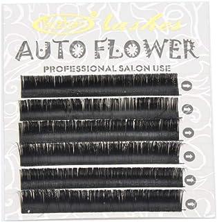 まつげエクステ 瞬間ボリュームラッシュ(Auto Flower) 0.07mm J(長さ指定) 6列シートタイプ ケース入り(0.07mm J 10mm)