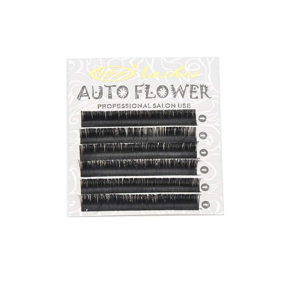 暫定ヒロインつかまえるまつげエクステ 瞬間ボリュームラッシュ(Auto Flower) 0.07mm J(長さ指定) 6列シートタイプ ケース入り(0.07mm J 7mm)