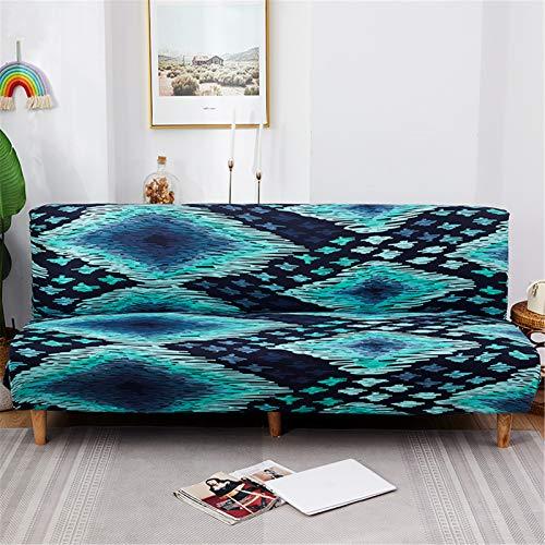 YCDZ Funda para sofá cama sin brazos, de poliéster y elastano, elástica, protector de 3 plazas, para sofá cama plegable, sin reposabrazos (# 35)