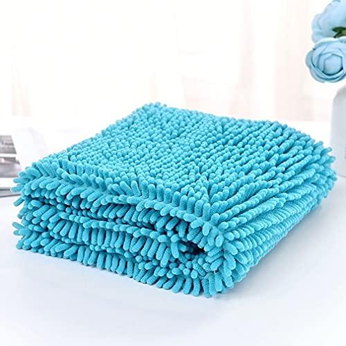 MNNE Hondenhanddoek, huisdier microvezel sneldrogende hondenbadhanddoek verzorging zachte microvezel Chenille materiaal hond absorberende handdoeken badjas handdoek voor kleine grote dieren meer blauw-groot