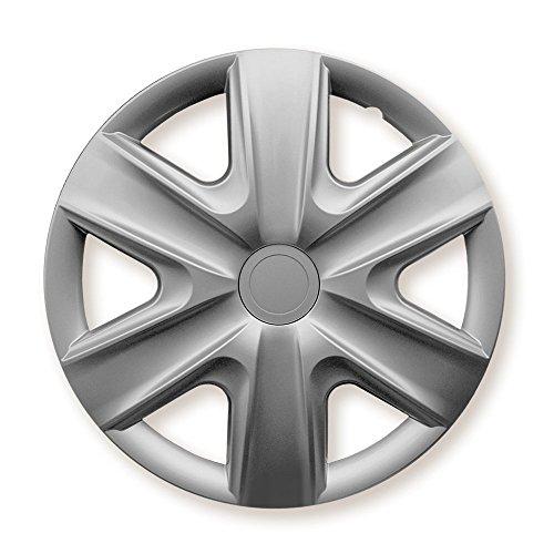 CM DESIGN wieldoppen geschikt voor bijna alle voertuigtypen (universeel) 16 Zoll zilver.