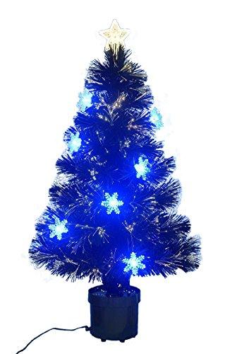 Christmas Concepts 32 Pollici Nero Fibra ottica Albero di Natale con fiocchi di neve - FO11