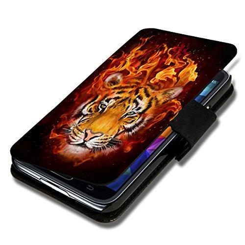 wicostar Book Style Flip Handy Tasche Hülle Schutz Hülle Schale Motiv Etui für Huawei Y635 - Flip 1X16 Design5