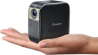 Mini Projecteur, Crosstour Mini Vidéoprojecteur, Pico DLP Projecteur, Supporte 1080P Full HD, Compatible avec Fire TV Stic...