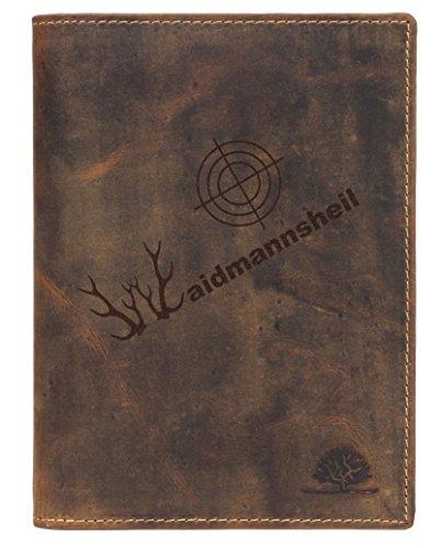Greenburry Vintage Forest WMH01 Ausweisetui Waidmannsheil braun