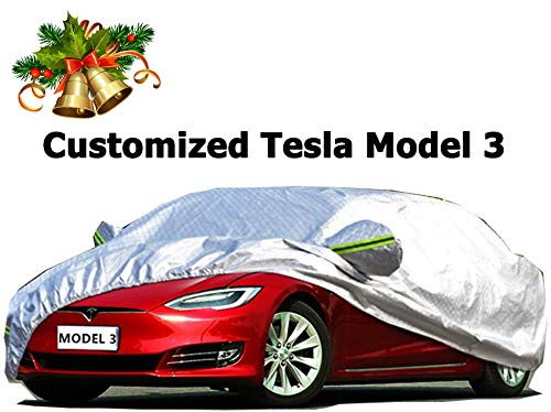topfit Waterproof Car Cover Compatible Tesla Model X All Weather for Automobiles Rain Snow Protection