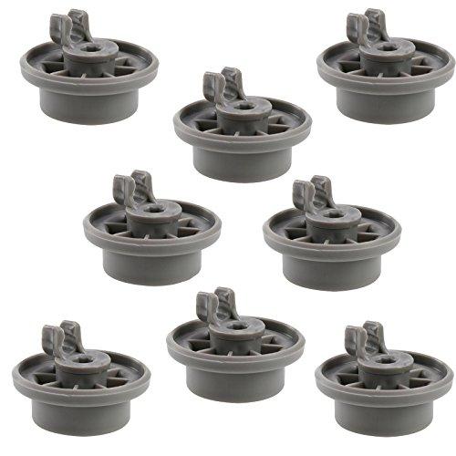 First4spares, Ruote a Clip per Carrello Inferiore lavastoviglie Bosch, Neff & Siemens, Confezione da 8