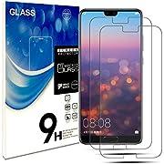 Fedlyz Panzerglas Schutzfolie für Huawei P20 Pro, Anti-Öl, [2 Stück] 9H Härte, Anti-Kratzen, Panzerglasfolie Gehärtetem Glas Displayschutzfolie für Huawei P20 Pro (P20 Pro)