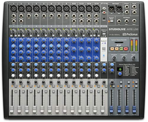 18-Kanal Mixer Hybrid PRESONUS mit Audio-Interface