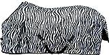 HKM 13134 Zebra - Coperta anti-mosche per cavalli, con cintura incrociata, 115-165