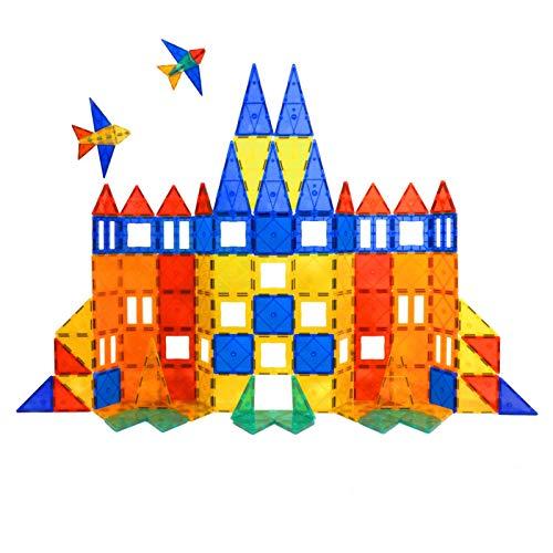 Tytan Magnetic Tiles & Building Blocks - STEM Certified Toys, Magnets for Kids, Boys/Girls Fun, Creative, Educational - (100)