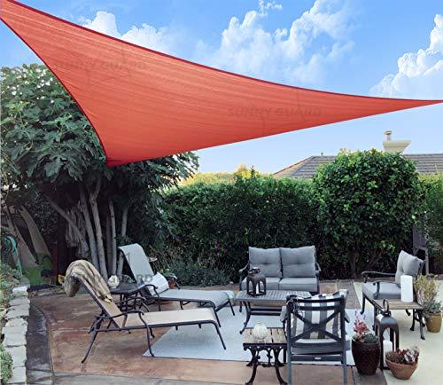 SUNNY GUARD 12' x 12' x 12' Terra Triangle Sun Shade Sail UV Block for Outdoor Patio Garden