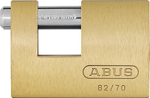 Abus - 82/63 Monoblock Brass Shutter Vorhängeschloss Carded - ABU8263C