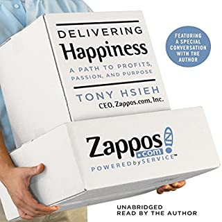 Delivering Happiness audiobook cover art