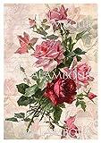 Calambour Papel DE ARROZ Ramo DE Rosas 35x50cm Ref. DGR176