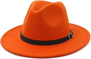 Jonathan Adler Women/'s Orange Ribbon Hand Straw Fedora Hat 140787